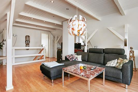 Villa på Lysegårdsvej i Stouby - Stue