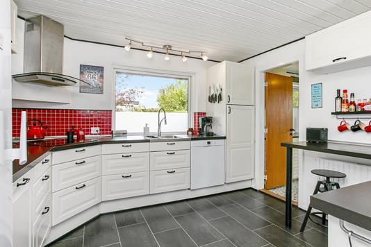 Villa på Apotekerbakken i Hornsyld - Køkken