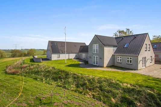 Villa på Geding Byvej i Tilst - Set fra haven