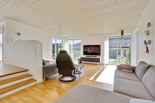 Villa på Østermarksvej i Tilst - Stue