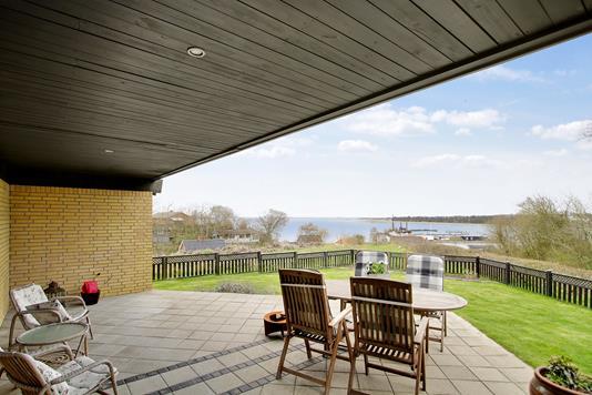Villa på Slugten i Hurup Thy - Overdækket terrasse