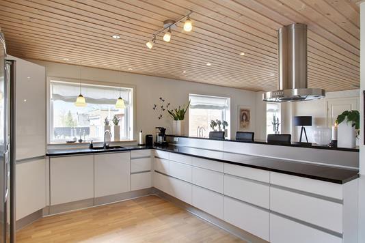 Villa på Nyhåbsvej i Snedsted - Køkken alrum