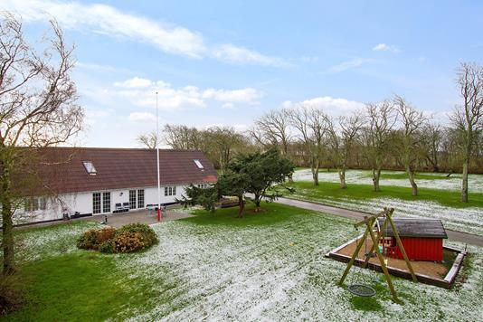 Villa på Munkevej i Thyholm - Set fra haven