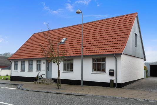 Villa på Klostergade i Vestervig - Set fra vejen