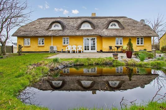 Villa på Havrelandsvej i Thyholm - Set fra haven