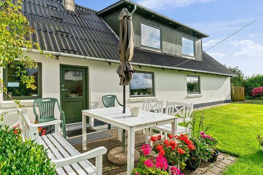 Villa på Kappelvej i Thyholm - Terrasse