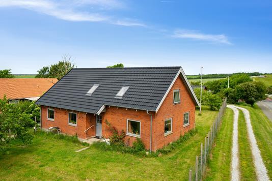 Villa på Aagade i Vestervig - Set fra haven