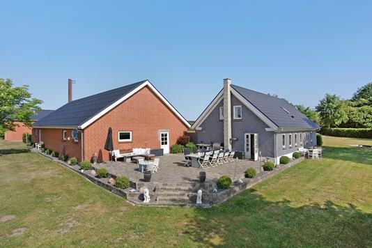 Villa på Hjortsvang Kærvej i Tørring - Terrasse