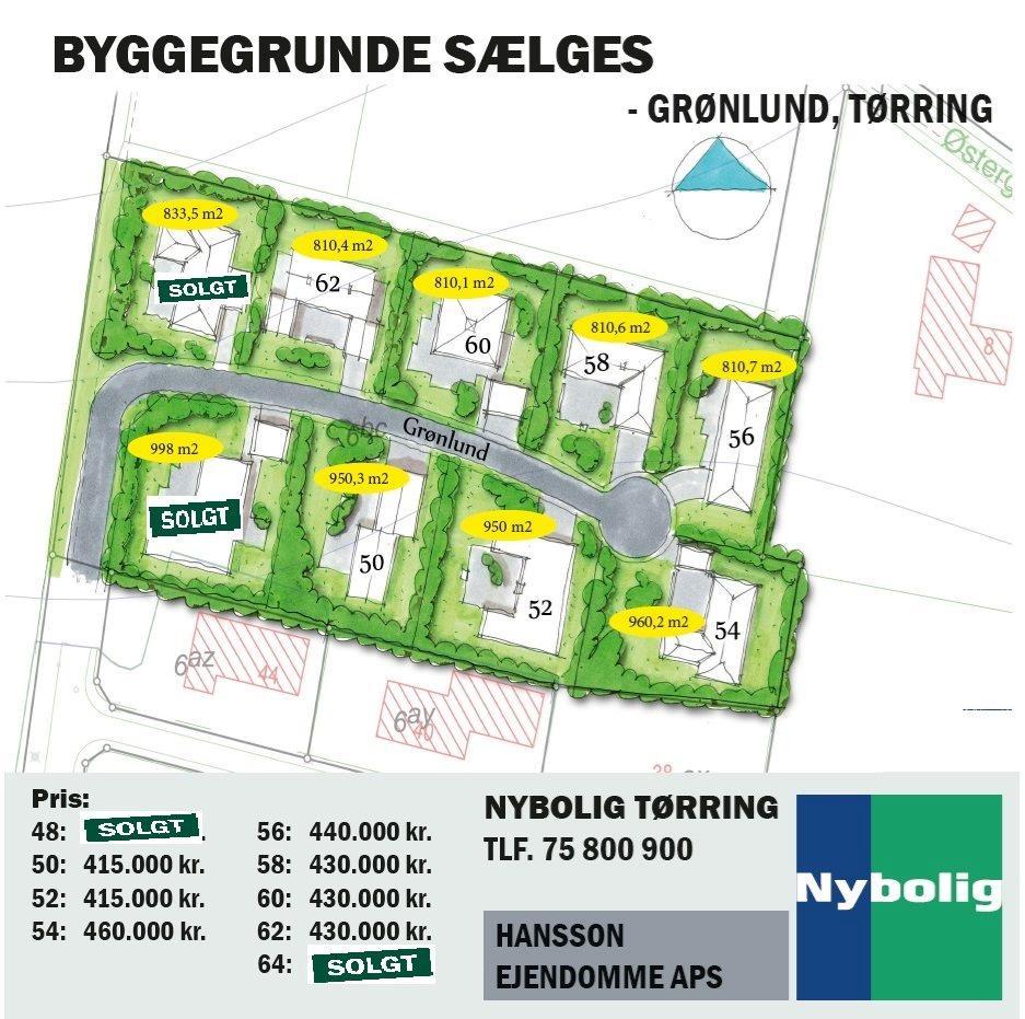 Helårsgrund på Grønlund i Tørring - Andet