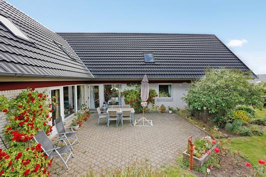 Villa på Bakkegårdsparken i Uldum - Terrasse