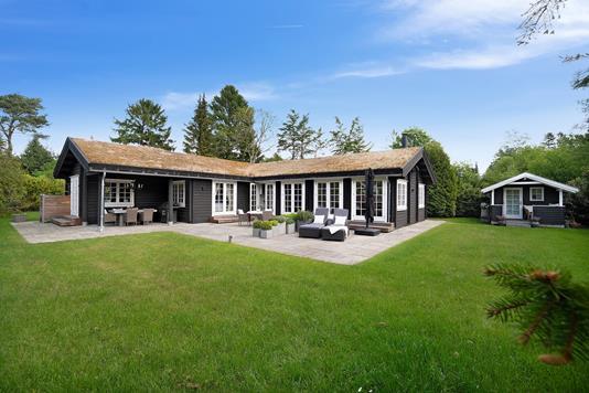 Fritidsbolig på Birkevangsvej i Hornbæk - Set fra haven