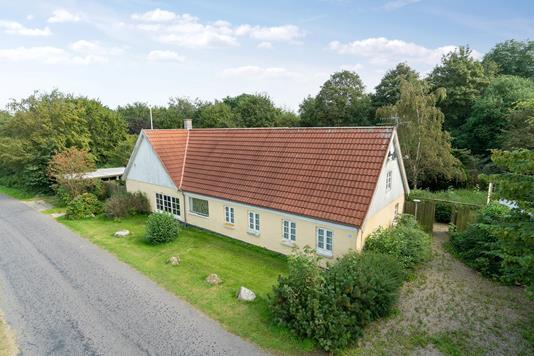 Villa på Skovsrodvej i Låsby - Set fra vejen