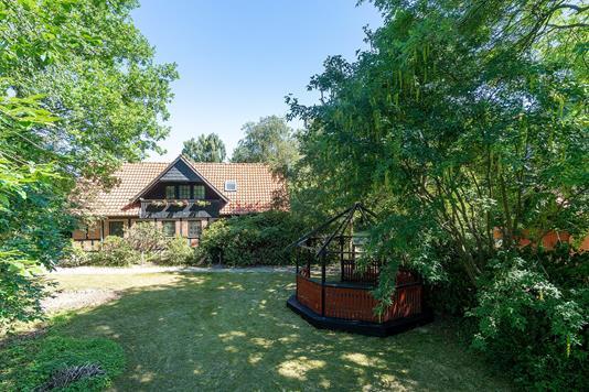 Villa på Udsigten i Galten - Set fra haven