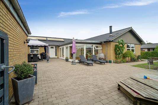 Villa på Østervangen i Galten - Terrasse