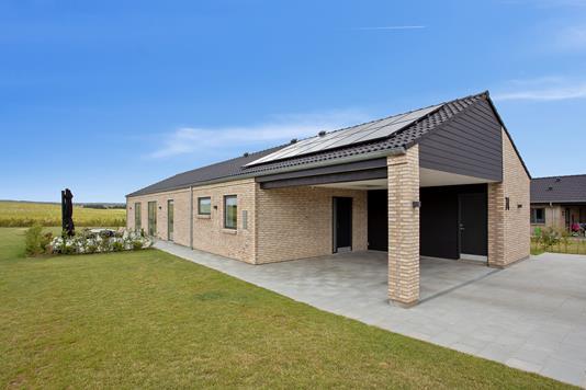 Villa på Knopsvane Alle i Galten - Set fra haven