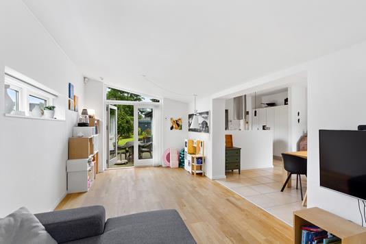 Villa på Lærkesvinget i Harlev J - Stue