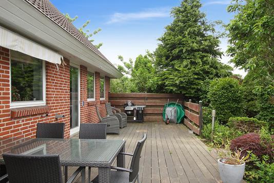 Villa på Hirsevænget i Galten - Terrasse