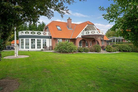 Villa på Eriksminde i Hammel - Set fra haven