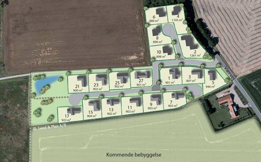 Helårsgrund på Vær Engvej i Horsens - Oversigtskort