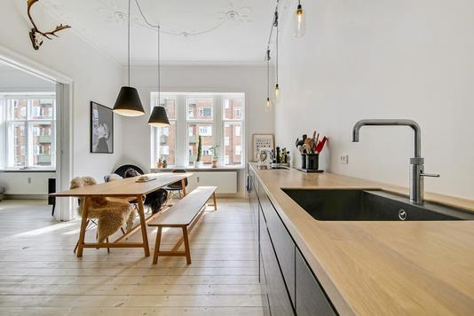 Ejerlejlighed på Østerbrogade i København Ø - Køkken