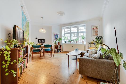 Andelsbolig på Victor Bendix Gade i København Ø - Stue
