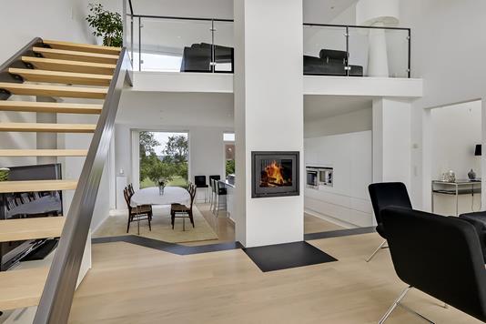 Villa på Diget i Munkebo - Stue