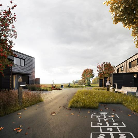 Rækkehus på Filmhusene i Værløse - Streetview
